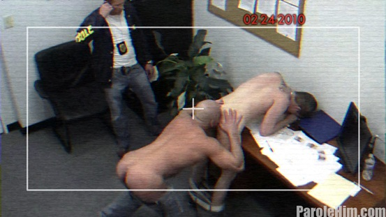 Parole Him Real US Parole Officers 03 Ripped Muscle Bodybuilder Strips Naked and Strokes His Big Hard Cock photo image1 - What some US Parole Officers get up to behind closed doors!