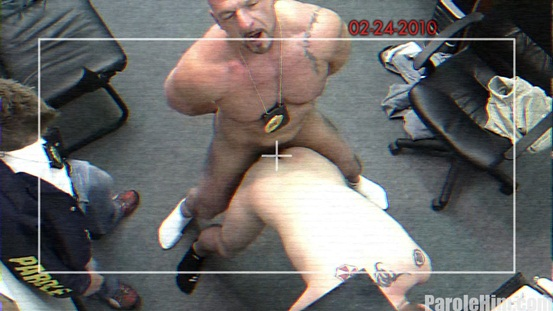 Parole Him Real US Parole Officers 05 Ripped Muscle Bodybuilder Strips Naked and Strokes His Big Hard Cock photo image1 - What some US Parole Officers get up to behind closed doors!