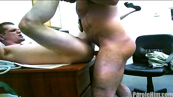 Parole Him Real US Parole Officers 07 Ripped Muscle Bodybuilder Strips Naked and Strokes His Big Hard Cock photo image1 - What some US Parole Officers get up to behind closed doors!