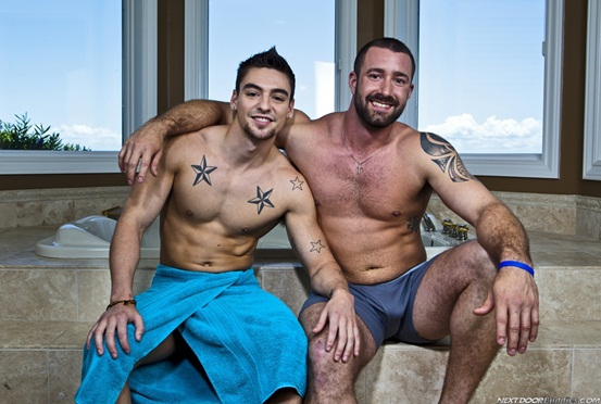 Vinny Castillo and Johnny Torque in double cum shot extravaganza 02 Ripped Muscle Bodybuilder Strips Naked and Strokes His Big Hard Cock photo1 - Vinny Castillo and Johnny Torque in double cum shot extravaganza