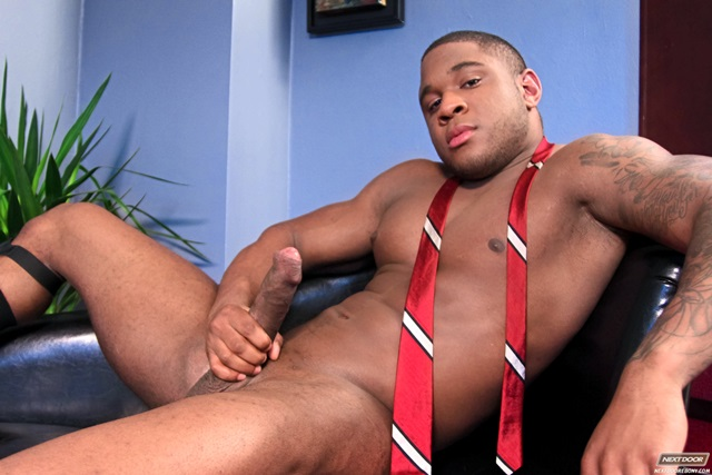 image Beefy black dude hunter corbin riding a cock