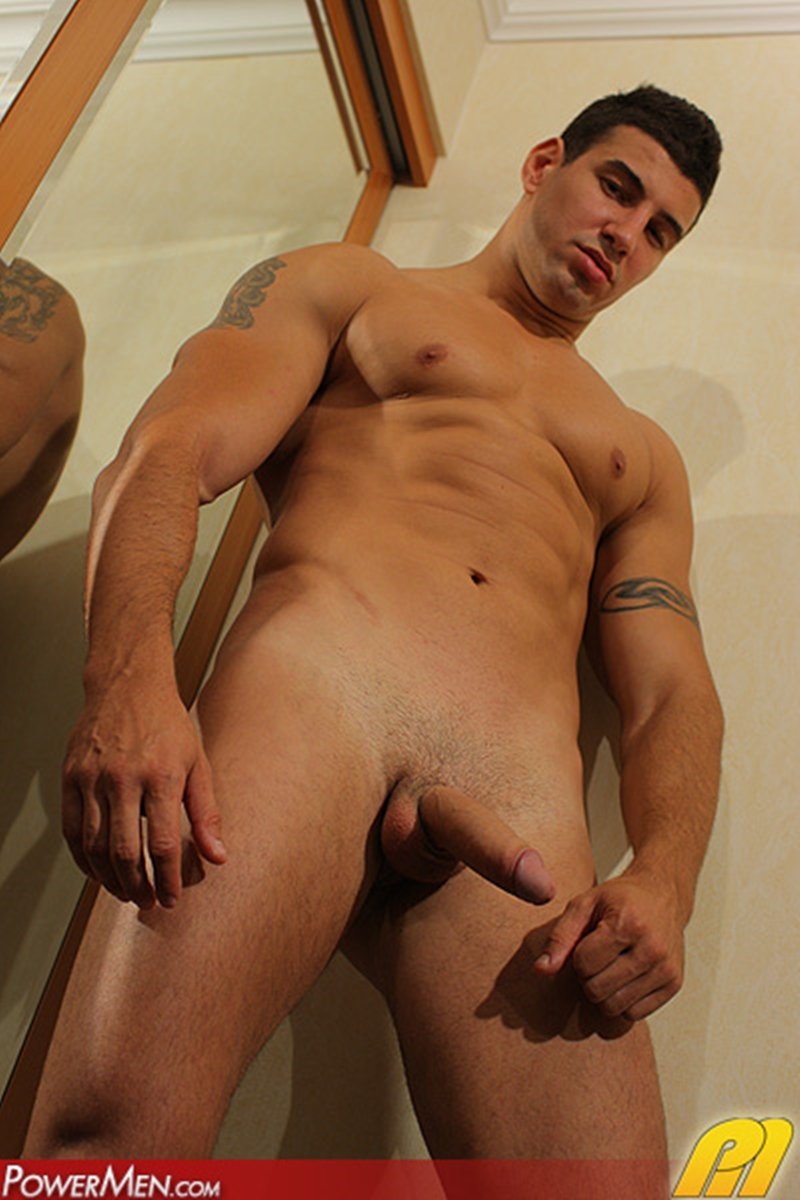 Bodybuilders with shaved cocks