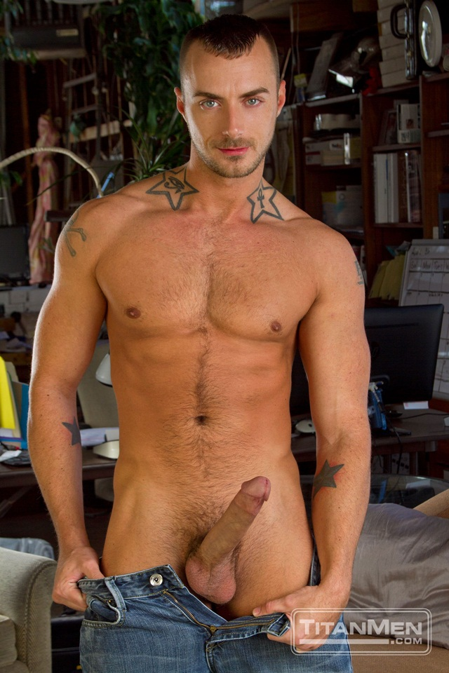 image Tattoed hunk alexander pounds the hot ass of