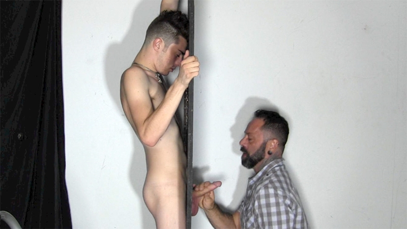 StraightFraternity Gage dick sucked gloryhole dumps huge cum load blowjob gay sex 006 tube download torrent gallery sexpics photo - Gloryhole Gage
