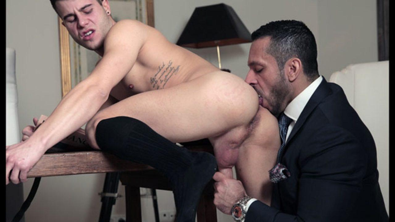 Allen King Porn Vid hairy chested hunk adam champ fucks allen king • naked big