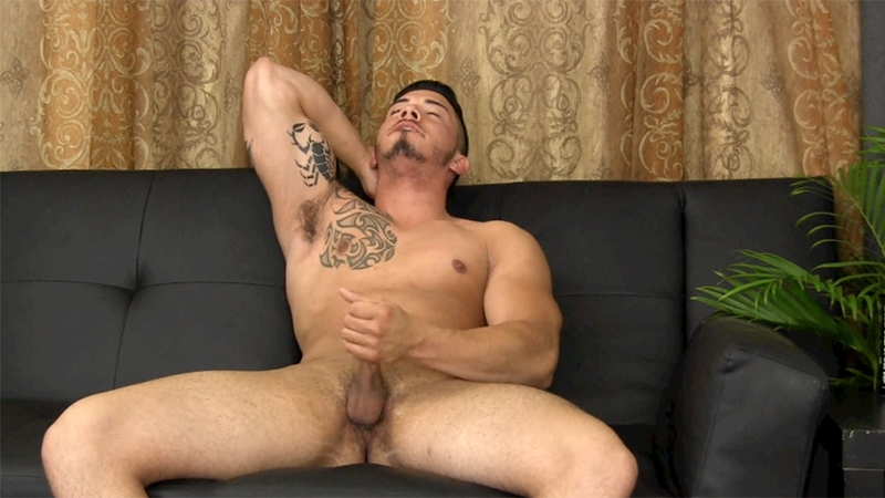 StraightFraternity Athletic Puerto Rican stud Javy D horny 22 years old jacking huge black cock big muscle body shoots enormous cum shot 012 tube video gay porn gallery sexpics photo - 22 year old athletic Puerto Rican straight stud Javy D jerks his huge black cock