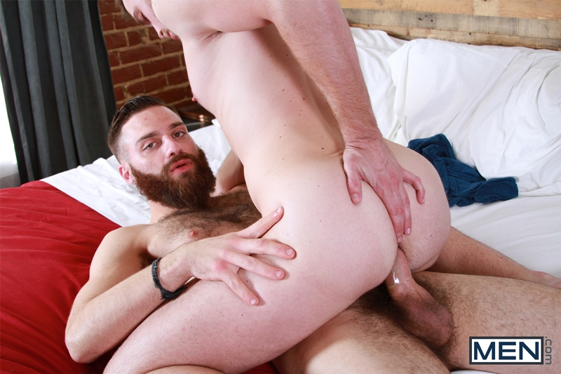 Gay ass banged from behind hard