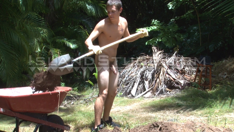 IslandStuds Brian 9 inch monster boy cock smooth tan pecs tight rock hard ab muscle surfer boy king size white athletic thighs big cum 013 gay porn video porno nude movies pics porn star sex photo - Brian's thick king-size cock hangs low and slaps his white athletic thighs