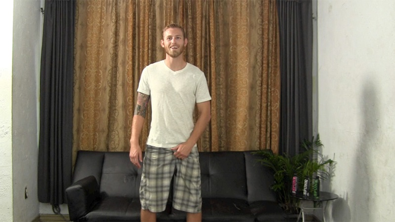 StraightFraternity Blonde straight bearded hunk Shawn shot physique strokes out thick cum load tattoos muscled stud massive dick 002 gay porn sex porno video pics gallery photo - Blonde straight bearded hunk jerks his first ever cumshot online