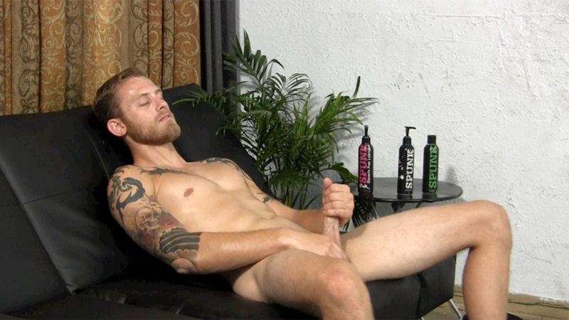 StraightFraternity Blonde straight bearded hunk Shawn shot physique strokes out thick cum load tattoos muscled stud massive dick 008 gay porn sex porno video pics gallery photo - Blonde straight bearded hunk jerks his first ever cumshot online
