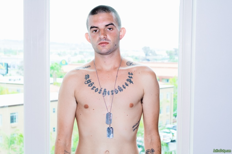 activeduty-shaved-head-tattoo-mikey-shiny-shorts-big-cut-dick-solo-jerk-off-wanking-smooth-chest-white-boy-big-low-hanging-balls-013-gay-porn-sex-gallery-pics-video-photo