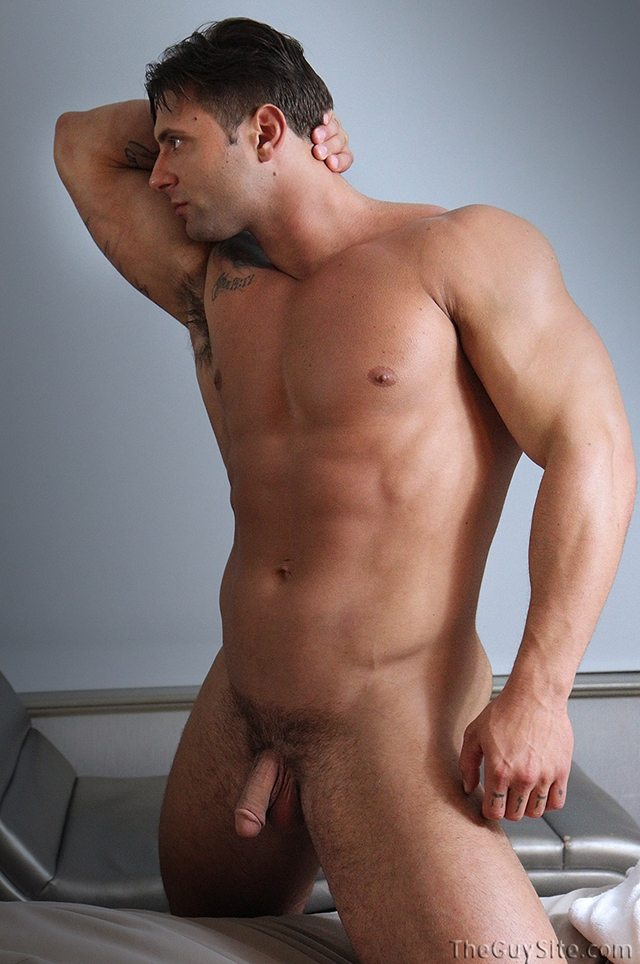Rock hard ripped body Mike Buffalari beats his meat at The Guy Site 05 Ripped Muscle Bodybuilder Strips Naked and Strokes His Big Hard Cock torrent photo1 - Rock hard ripped body Mike Buffalari beats his meat
