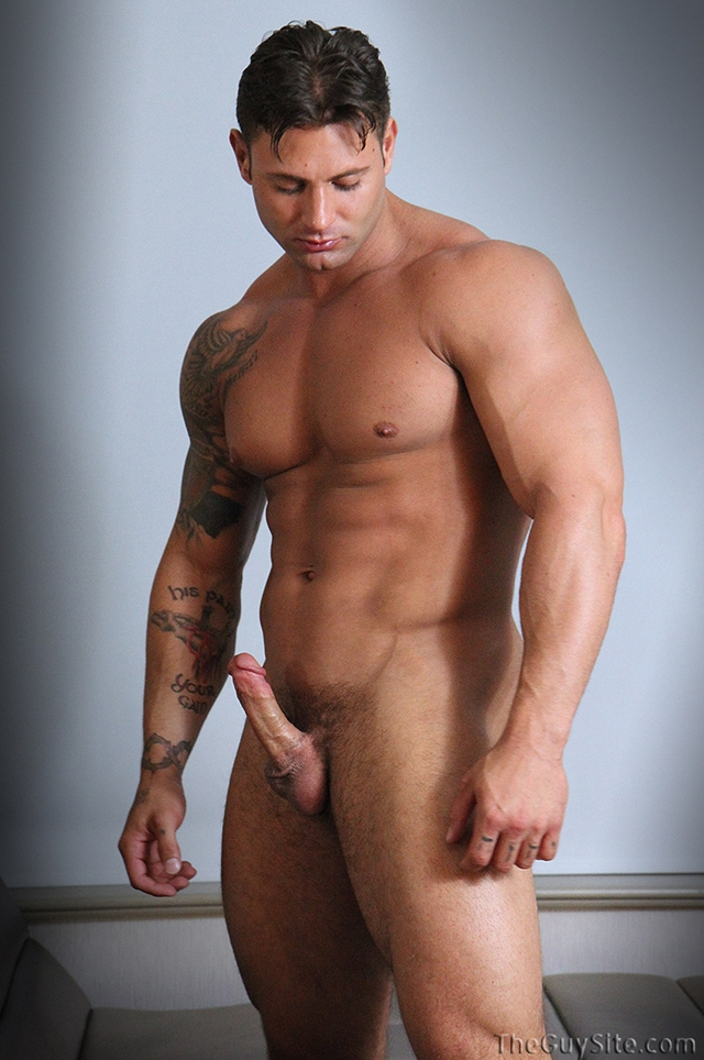 Rock hard ripped body Mike Buffalari beats his meat at The Guy Site 08 Ripped Muscle Bodybuilder Strips Naked and Strokes His Big Hard Cock torrent photo1 - Rock hard ripped body Mike Buffalari beats his meat