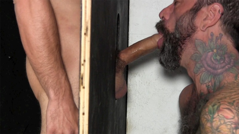 StraightFraternity Victor strips nude glory hole muscular body big thick long uncut dick cocksucking cock sucker young man sucked dry 007 gay porn sex gallery pics video photo - Victor moans loudly as he gets his veiny, uncut cock sucked dry