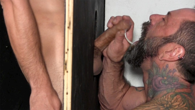 StraightFraternity Victor strips nude glory hole muscular body big thick long uncut dick cocksucking cock sucker young man sucked dry 012 gay porn sex gallery pics video photo - Victor moans loudly as he gets his veiny, uncut cock sucked dry