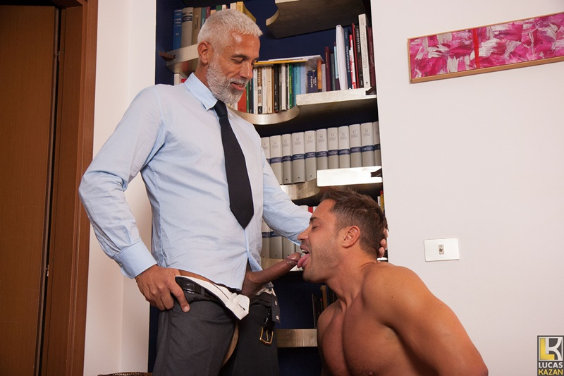 Italian dudes Daddy Pietro sucks and fucks hunky Alex's tight muscular asshole