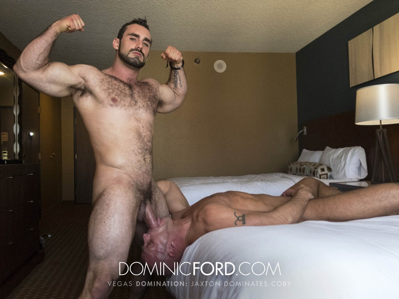 DominicFord Masculine muscular hairy hung aggressive Jaxton Wheeler dominates Coby Mitchell asshole big thick large dick sucking 024 gay porn sex gallery pics video photo - Masculine muscular hairy hung and aggressive Jaxton Wheeler dominates Coby Mitchell's asshole