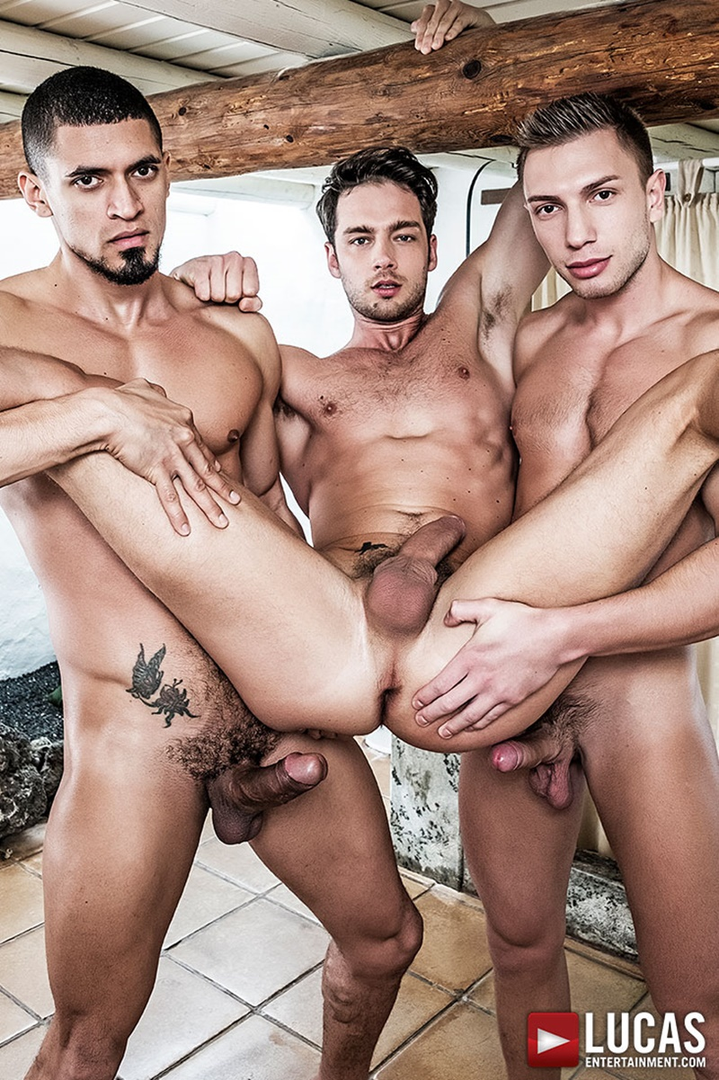 LucasEntertainment Ibrahim Moreno Bogdan Gromov double penetration fuck Damon Heart tight muscled ass spit roasting muscle butts 002 gay porn sex gallery pics video photo - Ibrahim Moreno and Bogdan Gromov double fuck Damon Heart tight muscled ass