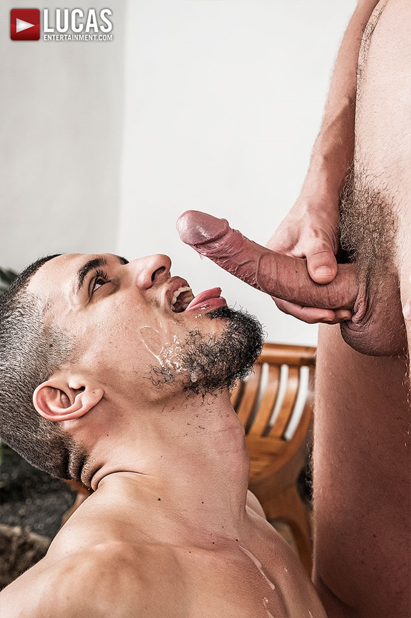 LucasEntertainment Ibrahim Moreno Bogdan Gromov double penetration fuck Damon Heart tight muscled ass spit roasting muscle butts 020 gay porn sex gallery pics video photo - Ibrahim Moreno and Bogdan Gromov double fuck Damon Heart tight muscled ass