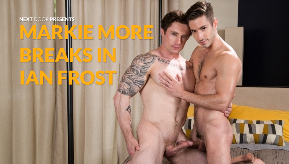 65912 01 01 - Markie More fucks the cum out of Ian Frost before pulling out and blasting him with his first on screen facial