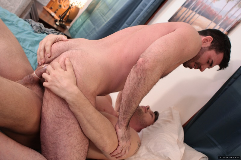 IconMale sexy smooth ripped abs Roman Todd licking Billy Santoro ass rimming tongue hairy chest muscle hunk big thick dick 014 gay porn sex gallery pics video photo - Roman Todd returns the favour by licking Billy Santoro's ass rimming him deeply with his tongue