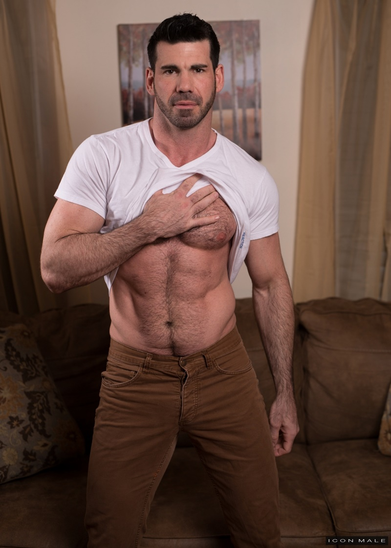 IconMale sexy smooth ripped abs Roman Todd licking Billy Santoro ass rimming tongue hairy chest muscle hunk big thick dick 018 gay porn sex gallery pics video photo - Roman Todd returns the favour by licking Billy Santoro's ass rimming him deeply with his tongue