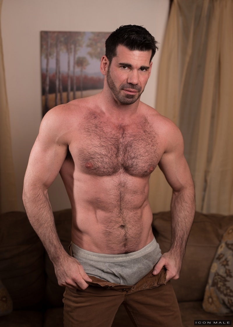 IconMale sexy smooth ripped abs Roman Todd licking Billy Santoro ass rimming tongue hairy chest muscle hunk big thick dick 019 gay porn sex gallery pics video photo - Roman Todd returns the favour by licking Billy Santoro's ass rimming him deeply with his tongue