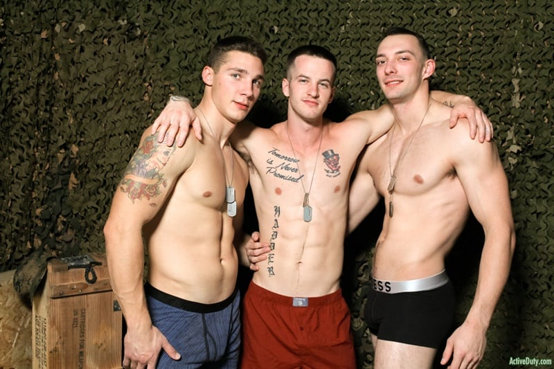 Hot threesome Johnny B's hot bubble butt ass fucked by Quentin Gainz and Spencer Laval's huge cocks