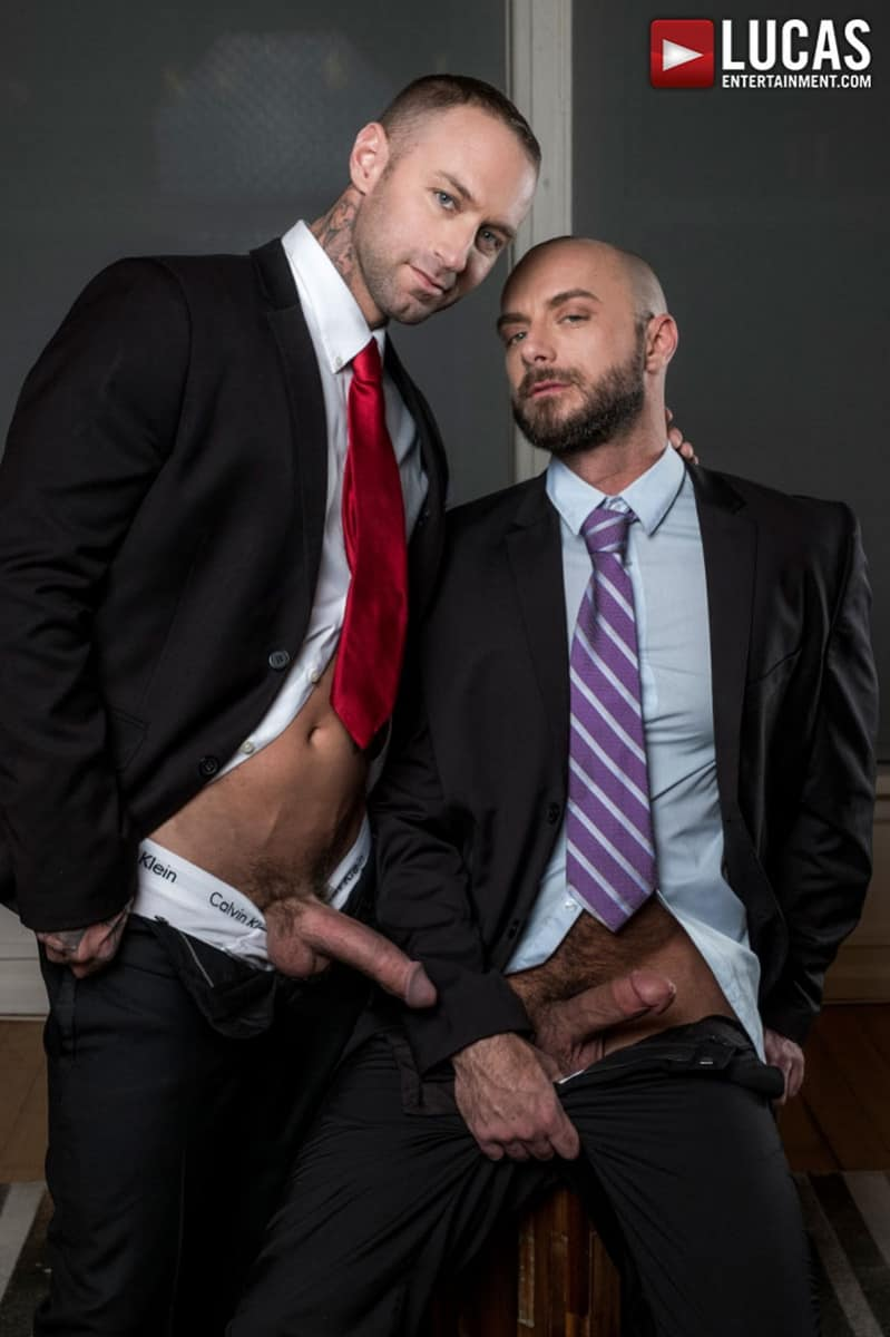 LucasEntertainment Jessie Colter bareback ass fucked raw dick sex toys anal beads dylan james 009 gallery video photo - Suited gay ass fucking Jessie Colter and Dylan James enjoy a hot anal beads ass fucking session