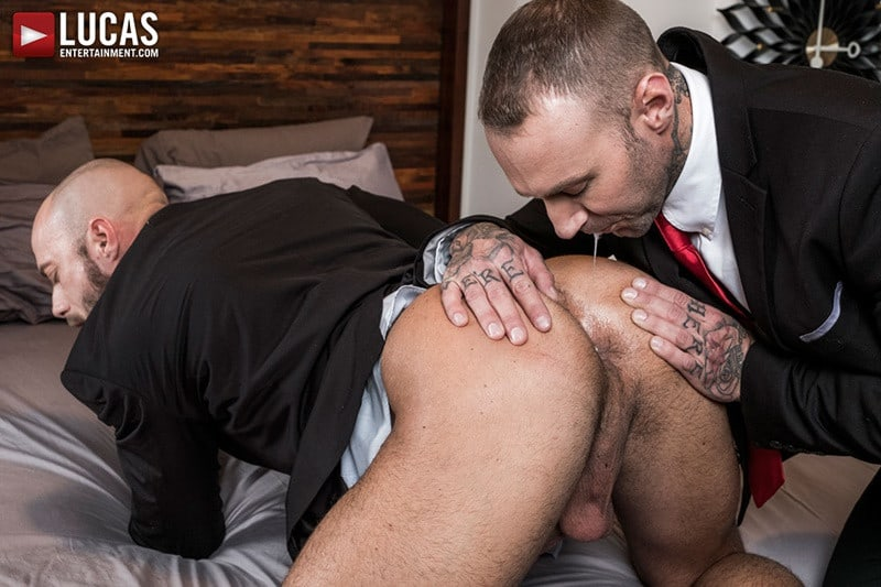 LucasEntertainment Jessie Colter bareback ass fucked raw dick sex toys anal beads dylan james 010 gallery video photo - Suited gay ass fucking Jessie Colter and Dylan James enjoy a hot anal beads ass fucking session