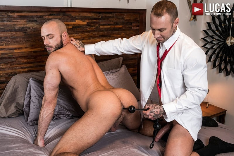 LucasEntertainment Jessie Colter bareback ass fucked raw dick sex toys anal beads dylan james 014 gallery video photo - Suited gay ass fucking Jessie Colter and Dylan James enjoy a hot anal beads ass fucking session