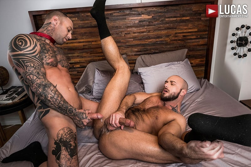 LucasEntertainment Jessie Colter bareback ass fucked raw dick sex toys anal beads dylan james 019 gallery video photo - Suited gay ass fucking Jessie Colter and Dylan James enjoy a hot anal beads ass fucking session
