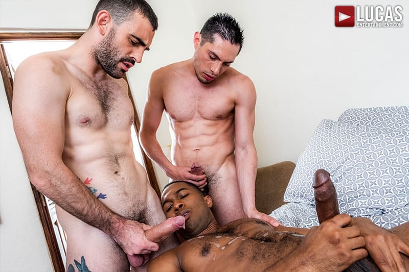 Men for Men Blog Ashton-Labruce-Sean-Xavier-Boy-Friend-Max-Arion-anal-fucked-huge-11-inch-cock-LucasEntertainment-027-gay-porn-pictures-gallery Ashton Labruce sits watching and stroking while BF Max Arion fucks black beauty Sean Xavier hot asshole Lucas Entertainment