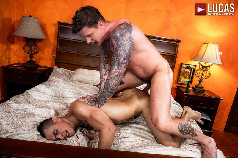 Men for Men Blog Max-Avila-Geordie-Jackson-tattoo-naked-muscle-dudes-huge-bareback-dick-LucasEntertainment-017-gay-porn-pictures-gallery Max Avila takes the full length Geordie Jackson's huge bareback dick Lucas Entertainment
