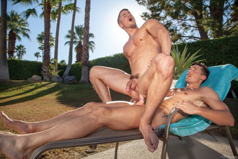 Men for Men Blog Gay-Porn-Pics-013-Steven-Lee-Skyy-Knox-huge-cock-ass-fucking-shooting-cum-muscle-stud-FalconStudios Steven Lee's huge cock fucks Skyy Knox's ass til he shooting cum out of the panting stud Falcon Studios