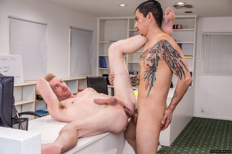 Hot young ripped hunk Nick Fitt hot asshole deep fucked Aaron Blonco big latino cock IconMale 010 gay porn pics - Hot young ripped hunk Nick Fitt's hot asshole deep fucked by Aaron Blonco's big latino cock