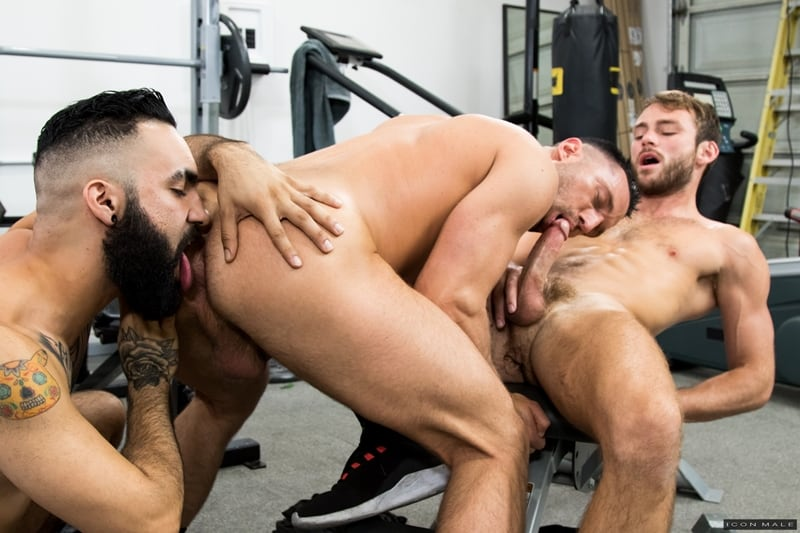 Hottie threesome Max Adonis Colby Tucker Zaddy train chain ass fucking IconMale 002 Gay Porn Pics - Hottie threesome Max Adonis, Colby Tucker and Zaddy train chain ass fucking