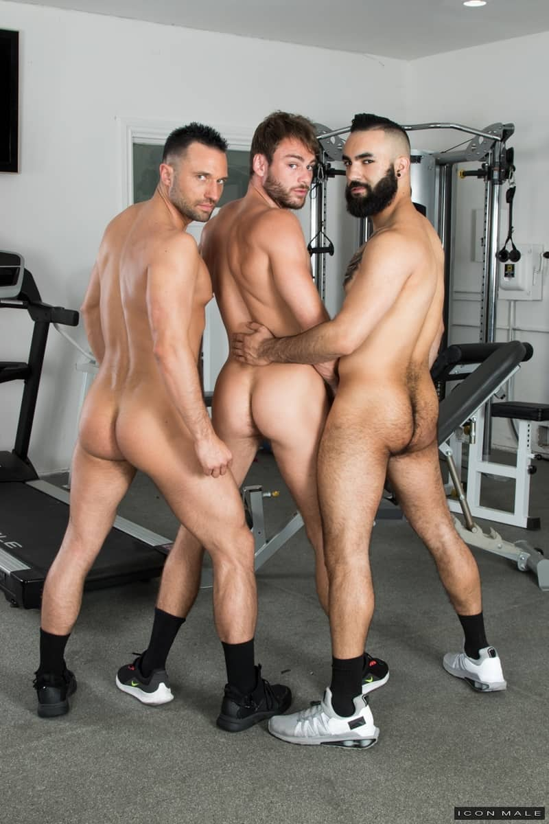 Hottie threesome Max Adonis Colby Tucker Zaddy train chain ass fucking IconMale 007 Gay Porn Pics - Hottie threesome Max Adonis, Colby Tucker and Zaddy train chain ass fucking