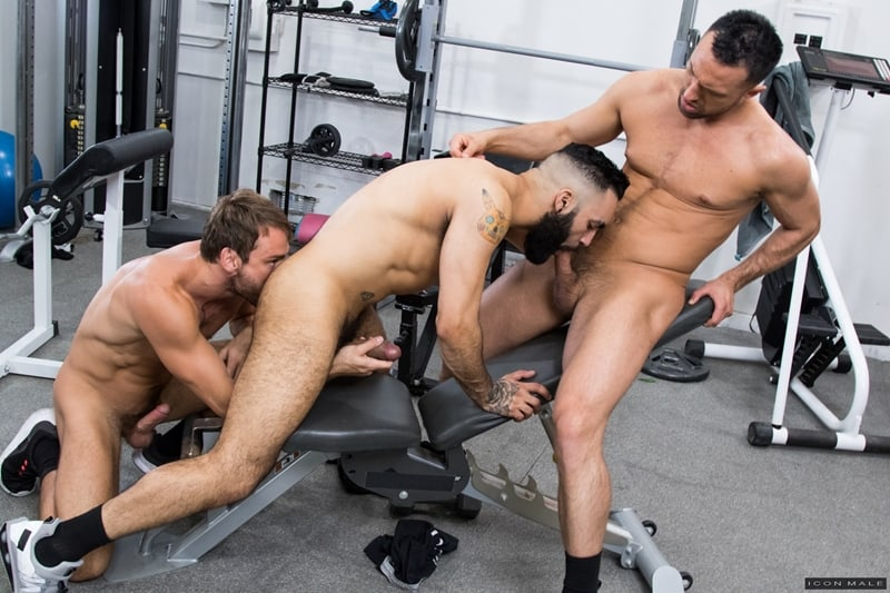 Hottie threesome Max Adonis Colby Tucker Zaddy train chain ass fucking IconMale 011 Gay Porn Pics - Hottie threesome Max Adonis, Colby Tucker and Zaddy train chain ass fucking