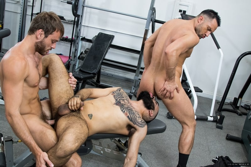 Hottie threesome Max Adonis Colby Tucker Zaddy train chain ass fucking IconMale 015 Gay Porn Pics - Hottie threesome Max Adonis, Colby Tucker and Zaddy train chain ass fucking