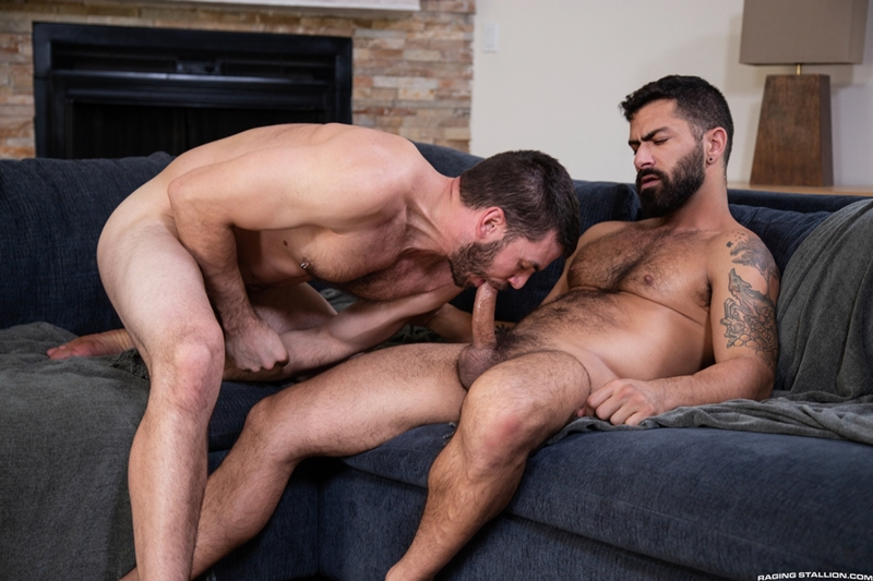 Hairy muscle bears Adam Ramzi and Vander Pulaski hardcore bareback big dick flip flop ass fucking