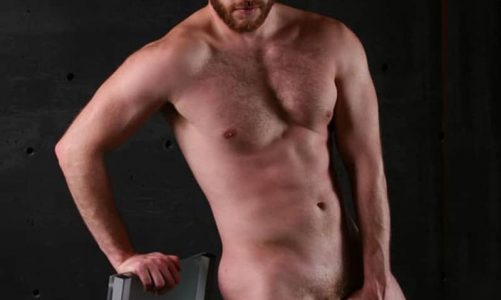 Hot hairy chested muscle hunk Peter Summers strips out of his sexy undies jerking his big cock at Legend Men