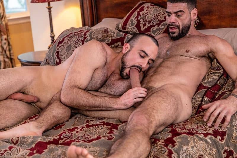 Hairy muscle dudes Mason Lear Ricky Larkin big thick dick anal fucking 002 gay porn pics - Hairy muscle dudes Mason Lear and Ricky Larkin big thick dick anal fucking