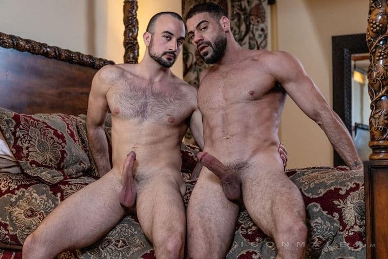 Hairy muscle dudes Mason Lear Ricky Larkin big thick dick anal fucking 009 gay porn pics - Hairy muscle dudes Mason Lear and Ricky Larkin big thick dick anal fucking