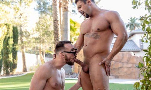 Hot Latino muscle hunk Draven Navarro's huge thick dick fucking Johnny B's tight bubble ass