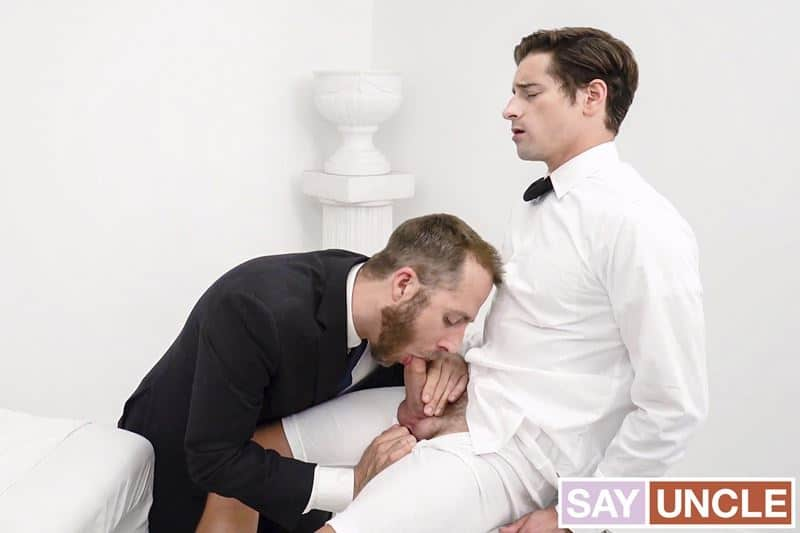 Young priest Alder Taylor Reign's hot boy ass bare fucked by President Lewis' huge thick raw dick