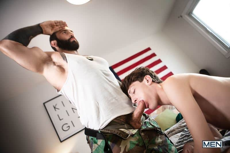 Hairy chested army sergeant major Markus Kage huge cock bareback fucks young dude Edward Terrant bubble butt 001 gay porn pics - Hairy chested army sergeant major Markus Kage's huge cock bareback fucks young dude Edward Terrant's tight bubble butt