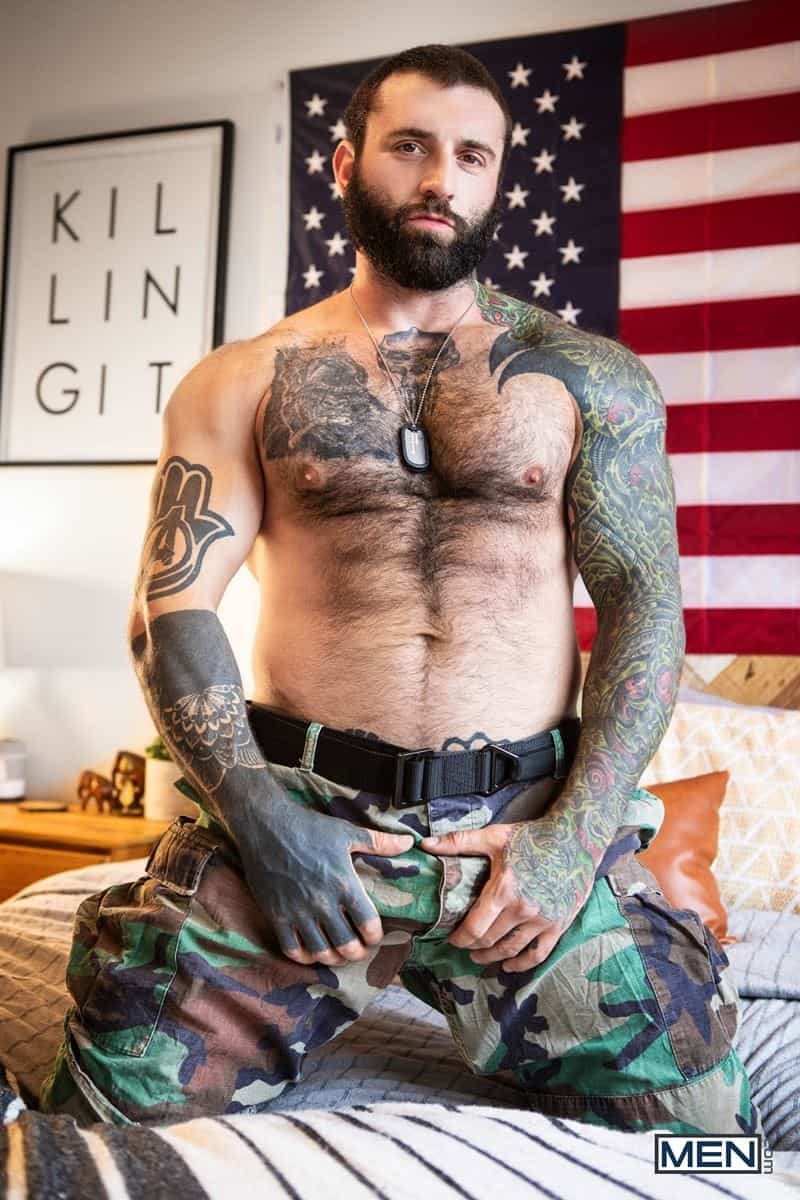 Hairy chested army sergeant major Markus Kage huge cock bareback fucks young dude Edward Terrant bubble butt 006 gay porn pics - Hairy chested army sergeant major Markus Kage's huge cock bareback fucks young dude Edward Terrant's tight bubble butt
