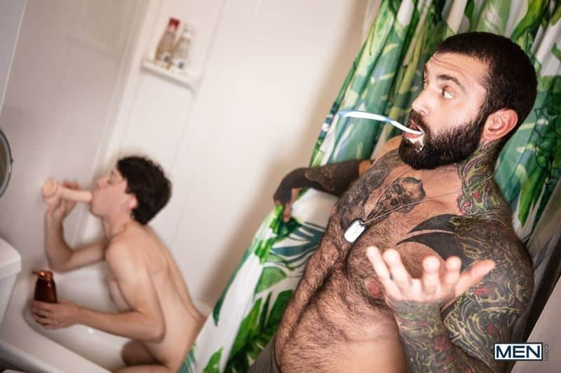Hairy chested army sergeant major Markus Kage huge cock bareback fucks young dude Edward Terrant bubble butt 012 gay porn pics - Hairy chested army sergeant major Markus Kage's huge cock bareback fucks young dude Edward Terrant's tight bubble butt
