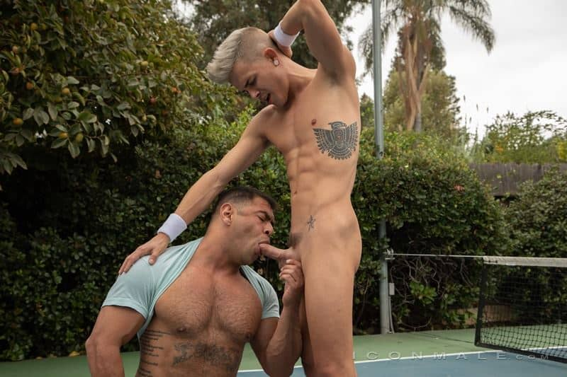 Hot black muscle stud Draven Navarro huge thick dick bareback fucking Andy Taylor tight smooth asshole 018 gay porn pics - Hot black muscle stud Draven Navarro's huge thick dick bareback fucking Andy Taylor's tight smooth asshole